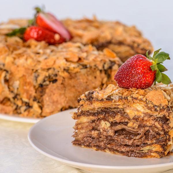 Наполеон шоколадный торт